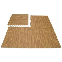 Hausen 4 Piece EVA Gym/Garage Floor Mat WOODEN