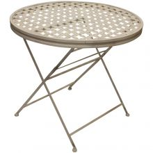 Woodside Round Metal Garden Table