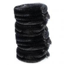 Woodside Black 40m Gutter Brush Leaf Guard Downpipe Debris Protection (pack of 10)