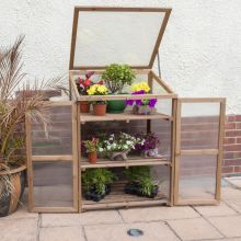 Woodside Large Wooden Cold Frame Growhouse Greenhouse