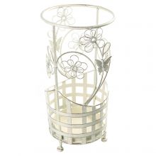 Maribelle Umbrella Stand Round White