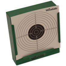 Woodside 14cm Shooting Target Holder + 100 Targets Air Rifle/Airsoft Pellet Trap
