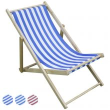 Woodside Wooden Beach Deck Chair Lounger