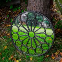 Woodside Ryton Decorative Round Outdoor Garden Mirror, Dia: 60cm