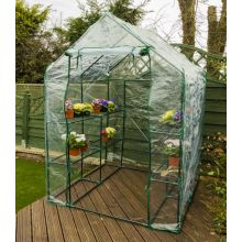 Woodside Walk In Greenhouse with PVC Cover - 8 Shelves