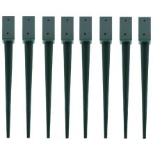 "Woodside Steel Fence Post Holders/Ground Stakes, 75mm/3"" Square (pack of 8)"