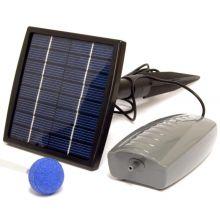 Woodside Solar Powered Oxygenator Pond Water Oxygen Pump 1 Air Stone Aerator