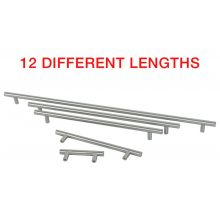 Kitchen Cupboard Cabinet T-Bar Door Handle Brushed Stainless Steel 64-640mm