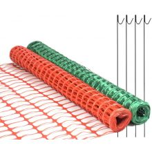 Woodside Plastic Barrier Safety Mesh Fence Netting Net With 10 Metal Pins