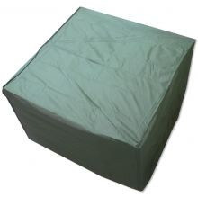 Woodside Heavy Duty Waterproof Garden Rattan Cube Set Cover GREEN 135x135x74cm