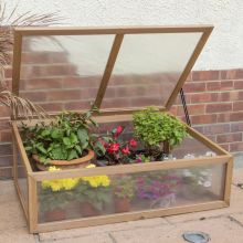 Woodside Small Wooden Cold Frame Growhouse Greenhouse