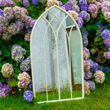 Woodside Ealing XL Decorative Arched Outdoor Garden Mirror, W: 60cm x H: 110cm