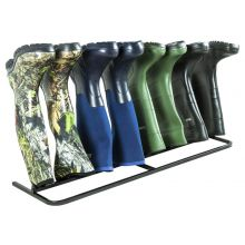 Woodside Steel Wellington Boot Rack 4 Pairs Walking Shoe Storage Stand