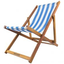 Woodside Beach Deck Chair LIGHT BLUE/WHITE
