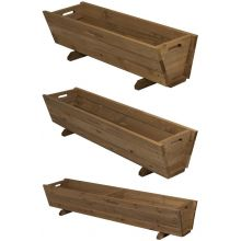 Woodside Wooden Garden Planter Plant/Flower Trough Container Box