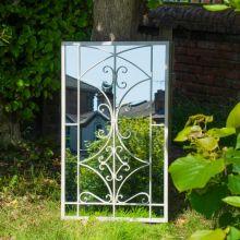 Woodside Alston Large Decorative Rectangle Outdoor Garden Mirror
