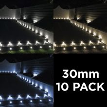 Woodside Set of 10 30mm LED Deck Lights
