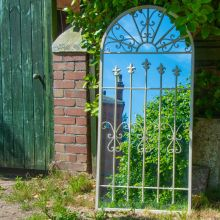 Woodside Bexley XXL Decorative Arched Outdoor Garden Mirror