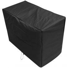 Oxbridge Black 2 Seater 1.34m 4ft Waterproof Outdoor Garden Bench Furniture Cover