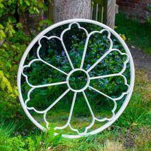 Woodside Upton Large Decorative Round Outdoor Garden Mirror