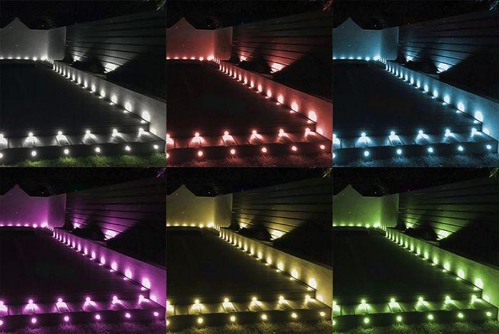 10 X 30mm Woodside Rgb Colour Changing, Rgb Garden Lights