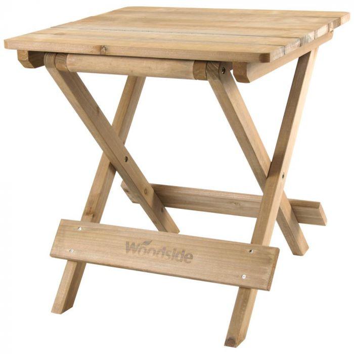 Woodside Folding Coffee Side Snack, Folding Wooden Table For Garden