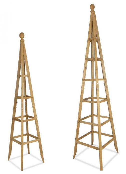 Heavy Duty Aston Garden Obelisk Metal Plant Climbing Supports Frame Pyramids