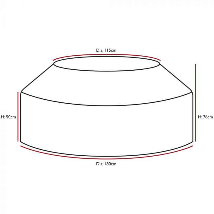 Woodside Black Waterproof Outdoor 8 Seater Round Picnic Table Cover Woodside Products