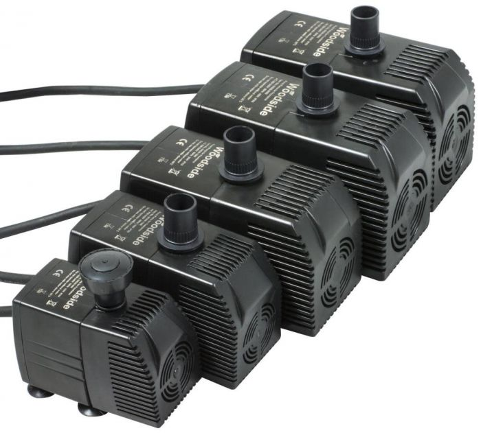 Woodside Submersible Water Feature Pond Fountain Pump 600lph 3000lph Flow Rate Woodside Products