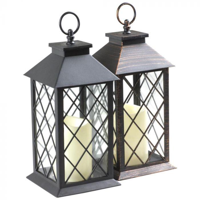 Woodside Traditional Indoor Outdoor, Outdoor Candle Lanterns Uk